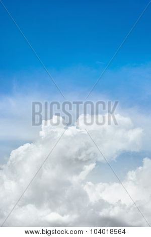 Beautiful Blue Sky And Beautiful Cloud As Background Texture