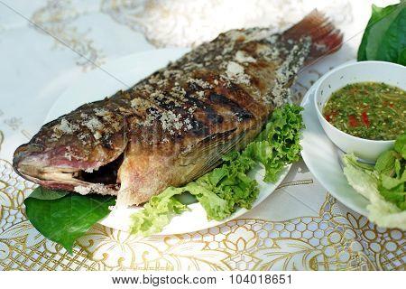 Thai Food, Salt Grilled Fish