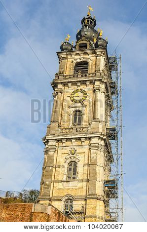 Bell Tower In Mons, Belgium, The Capital Of Culture