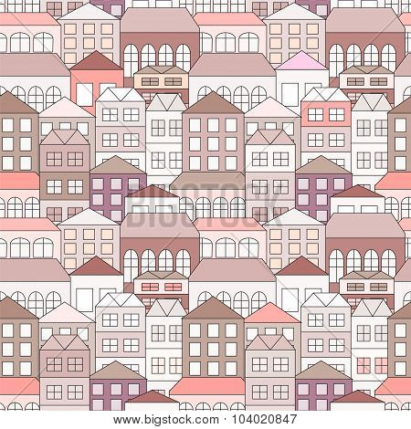 Seamless Building Background. Stock Vector