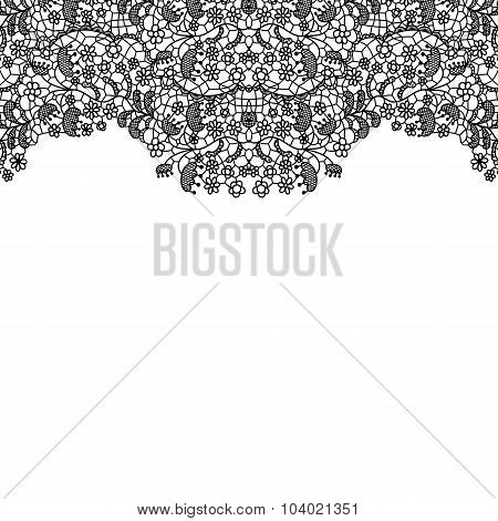 Lacy wedding invitation card.