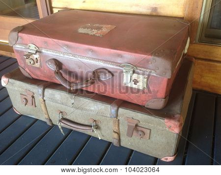 old suit cases
