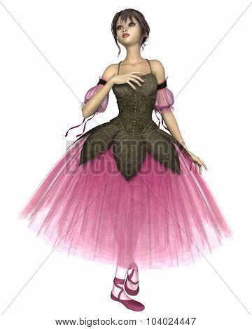 Pink Flower Ballerina in Romantic Tutu
