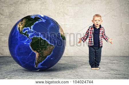 child portrait and 3d world