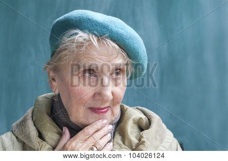 Thougtful Senior Female