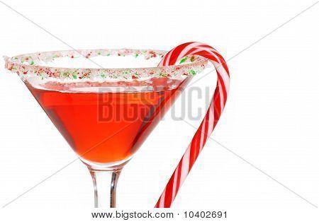 macro candy cane martini shallow DOF