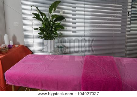 Beautiful Massage Room In A Spa Saloon
