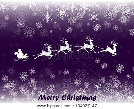 Illustration of Santa in his Christmas sled