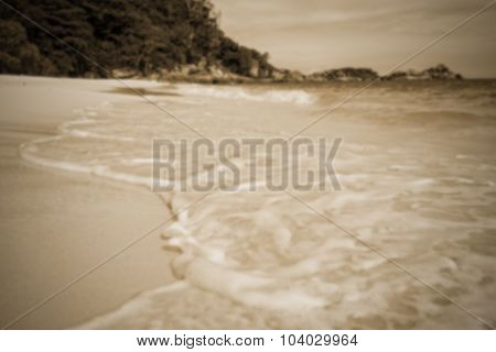 Blurred Beach In Sepia Colour At Similan Island, Thailand