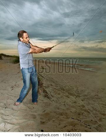 Golf at the beach
