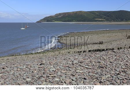 Beach At Porlock Weir