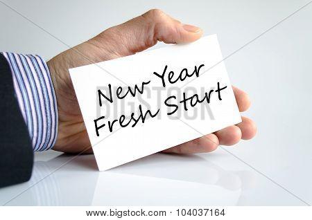 New Year Fresh Start Text Concept