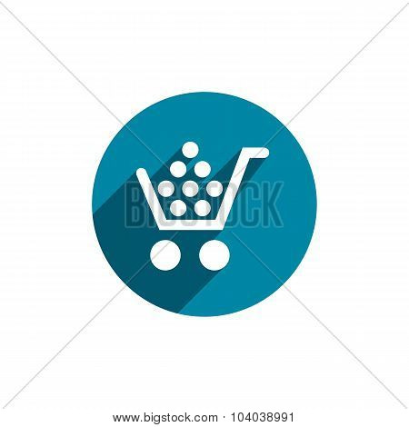 Cart Vector Icon Isolated, retail theme symbol