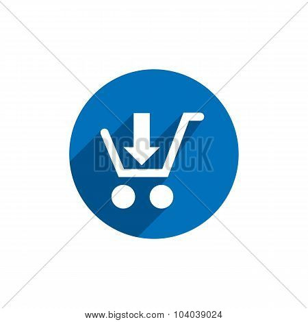 Cart Vector Icon Isolated, retail symbol