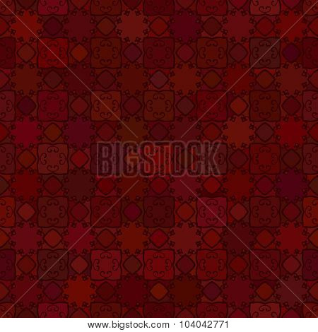 Abstract vector background Geometric Seamless pattern Maroon color