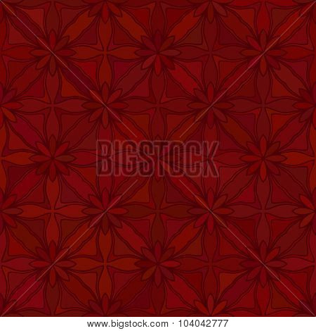 Abstract vector background Geometric flower Seamless pattern Maroon color