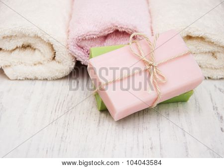 Bath Towels And Handmade Soap