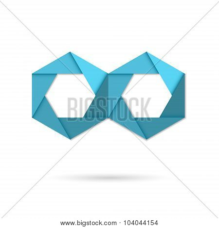 Hexagon Infinity Logo Sign