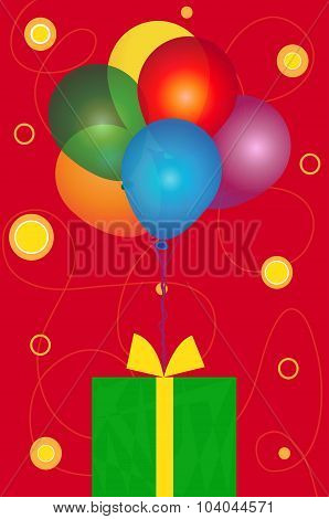 Balloons and Present