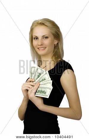 Girl And Dollars