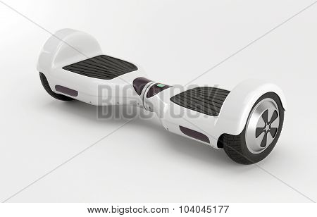 Two wheel electric self-balancing scooter. White.
