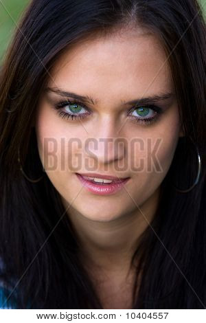 Detailed Portrait Of Beautiful Girls