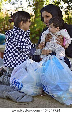 Refugees In Bapska (serbian - Croatina Border)