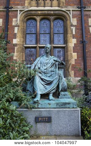 William Pitt The Younger Statue In Cambridge