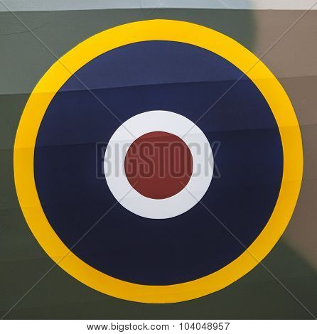 Royal Air Force Roundel On An Aircraft