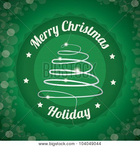 Merry christmas card design.