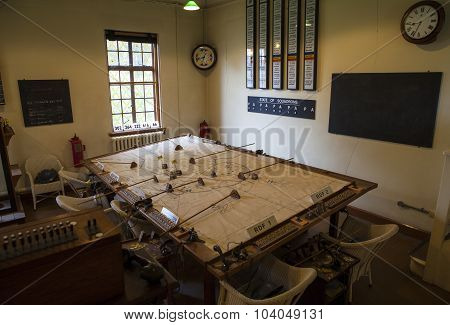 Second World War Operations Room At Duxford