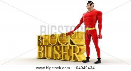 Superhero Presenting Blockbuster Concept