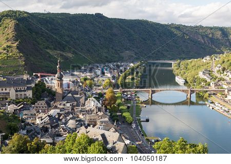 Mosel River Valley On A Summer Day. Cochem. Germany.