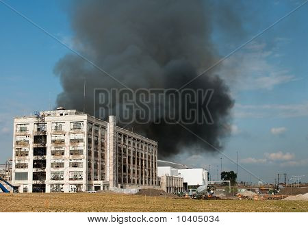 Warehouse Fire Smoke
