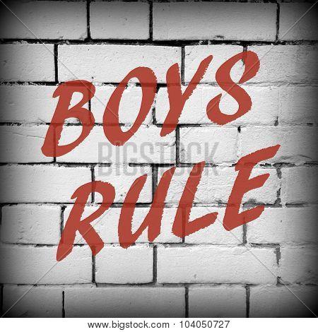 Boys Rule Graffiti