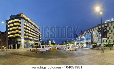 New City Hall And Main Square In Katowice