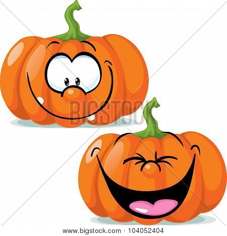Funny Pumpkin Character - Vector Illustration