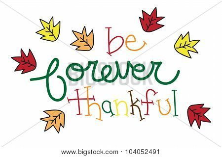 Be Forever Thankful