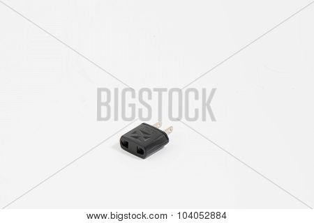Plug with white background