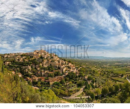 View of Gordes - traditional french village