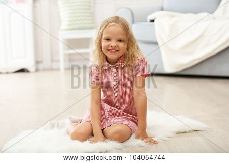 Little girl in the room