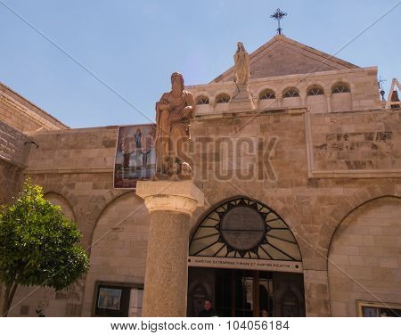 The City Of Bethlehem. The Church Of The Nativity Of Jesus Christ.