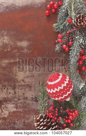 New Year and Christmas decoration frame