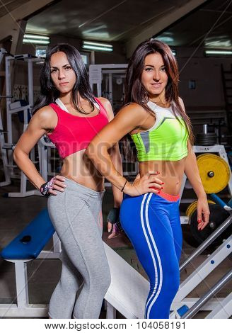 Girls relaxing in the gym