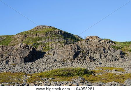 Rocky Tundra Landscape, Barents Seacoast