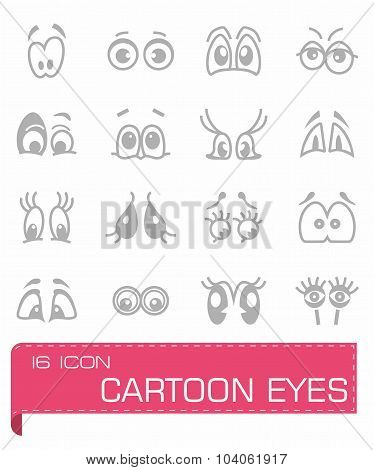 Vector Cartoon eyes icon set