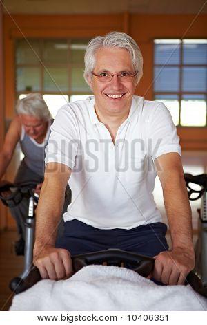 Elderly Man On Bike