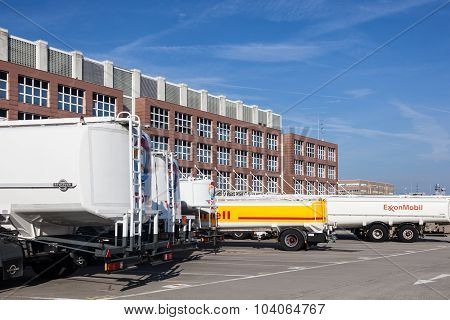 Fuel Trucks At The Airport