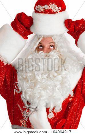 santa claus isolated on white