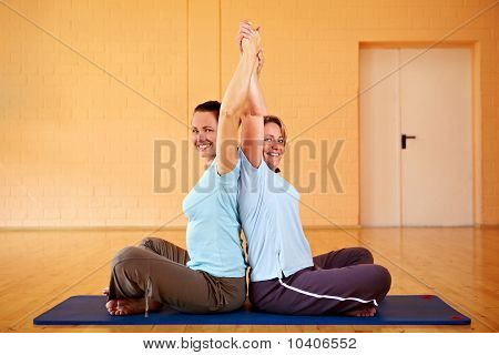 Back Exercise Class In Gym